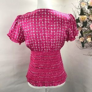 INC International Concepts Tops - 💐🎀INC SILK PINK BLOUSE SMOCKED FITTED BOTTOM 💐